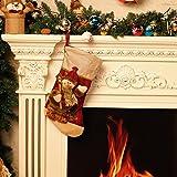 Moonmini 3D Calze Natalizie da Appendere Buste Regalo Natale Grandi Bustine Sacco Sacchetti Idee Regali Natale Decorazioni Addobbi Natalizi Originali - Pupazzo di Neve