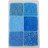 Eshoppee Blue Color 300 Gm 11/0, 2mm Glass Beads Seed Beads Bead For Jewellery Making Art And Craft Do It Yourself DIY Kit. (Turquoise)