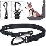 SlowTon Hundsäkerhetsbälte hundsäkerhetsbälte för bil justerbar säkerhet karbinhake och elastisk gummidämpning för alla hundr