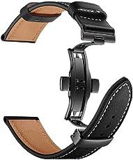 BZLine® Armband für Apple Watch 42mm Series 1, Series 2, Series 3, Butterfly Schnalle Leder Armbanduhr Armband Uhrenarmband für iWatch Apple Watch 42mm