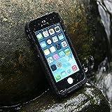 Levin™ iPhone 5S Tauchf�hig 6.6ft Wasserdichte Staubdichte & sto�feste Vollschutz H�lle Dauerhafte Voll versiegelte Schutzh�lle f�r iPhone5 und iPhone 5S (Schwarz)