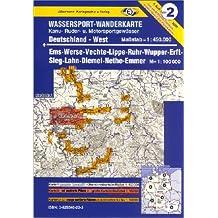 Jübermann Wassersport-Wanderkarten, Bl.2, Deutschland West