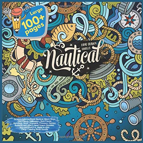 Scratch Coloring Book Nautical, Word, Boys, Owl, Candy, Halloween, Best Friend, Sunshine, Mom, Vegetable, Princess, Garden, Butterfly and others Hand ... and others Hand Drawn Doodles, Band 1) (Hand Für Basteln Halloween)