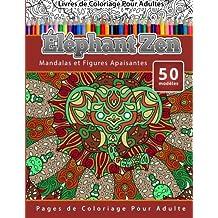 Coloriage Elephant Pour Adulte.Amazon Fr Coloriage Elephant Mandala