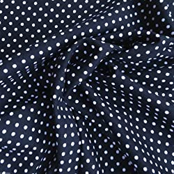 Siempre agujas de coser por trimestres totallygifts popelín de algodón 3 mm telas de lunares