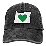 U-Only Heart In Oregon Vintage Jeans Baseball Cap Outdoor Sports Hat for Men and Women