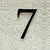 Colours-Manufaktur Hausnummer Nr. 7 - Schriftart: Klassisch - Höhe: 20-30 cm - viele Farben wählbar (RAL 9005 tiefschwarz (schwarz) glänzend, 20 cm)