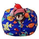 Stofftier Kuscheltiere Aufbewahrung Aufbewahrungstasche Sitzsack Kinder Soft Pouch Stoff Stuhl, Spielzeug Aufbewahrungstaschen mit reißverschluss (Mehrfarbig-G)
