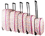 TC-HP-02 White Hearts Luggage Set of 5 - Best Reviews Guide