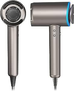 Ionen Haartrockner - Tineco Smart Haartrockner MODA ONE 1400W Föhn mit Haarfeuchteerkennung Sensortechnologie und Multimode-Einstellung Locken Trockner mit Stylingdüsen Diffusorr für Familien Salons