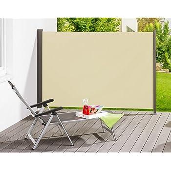 seitenmarkise markise windschutz sichtschutz blickschutz creme 180 x 300 cm. Black Bedroom Furniture Sets. Home Design Ideas