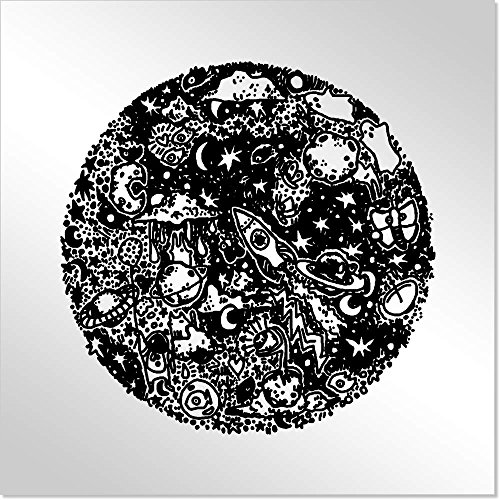 10cm 'Cielo Nocturno' Espejo de Acrílico Decorativo (MT00000854)