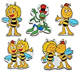 5 Stück: Magnet - Biene Maja - aus Holz für Kinder - Kinderzimmer Kühlschrankmagnet / Kindermagnet Holzmagnet Magneten Bienen