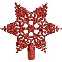 adorno de estrella con brillantina para punta del rbol de navidad cm