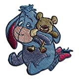 Aufnäher / Bügelbild - Winnie Puuh Esel I-Aah mit Teddy Disney Comic Kinder - blau - 7,9x7,5cm - by catch-the-patch® Patch Aufbügler Applikationen zum aufbügeln Applikation Patches Flicken