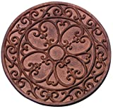 Esschert Design–Platten Garten, Motiv Klassik, rund, Durchmesser: ca. 30cm x 1,2cm hoch, 1–10Stück a Wahl 2 pz