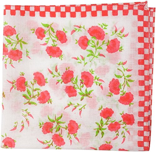 Krystle Woman Coloured handkerchief pack of 3  available at amazon for Rs.95