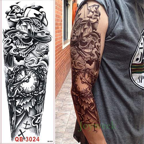 tzxdbh 5 Stücke-wasserdichte Tattoo Aufkleber Drachen Tier Voller Arm Tattoo Tattoo Ärmel Tattoo Große Größe für Männer und Frauen 5 Stücke-
