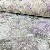Sirpi Rose Blume Muster Tapete Blumenmuster Glitzer Motiv Italienischer Schwer - Lila