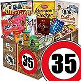 Geschenk zum 35. Geburtstag   Geschenk Schokolade Frauen   mit Halloren, Zetti, Viba und mehr   GRATIS DDR Kochbuch   Schoko Geschenk Set