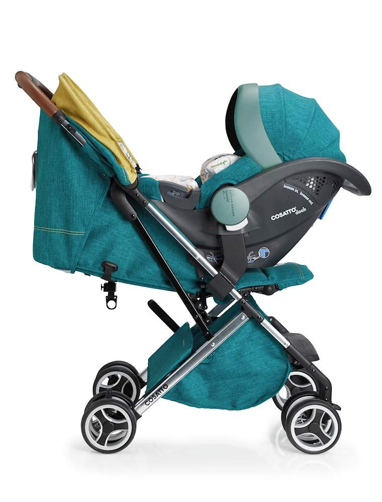 Cosatto Woosh XL Pushchair, Suitable from Birth to 25 kg, Hop to It Cosatto Compact from-birth pushchair. carries up to 25kg child, so you can use it for longer. Hands full? it's lightweight with one-hand fold into compact bundle. easy to store. It can even carry dock 0+ car seat (sold sep) just pop onto the adaptors (sold sep). 3