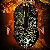 Neue Gaming-Mäuse. USB Wired optische Gaming Maus für Computer Desktop Laptop Notebook PC, 3Tasten, ergonomisches Design Hohe Präzision Maus mit farbigen Atmen Licht für Gaming Enthusiasten