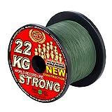 WFT KG STRONG 600m 0,12mm 15kg, geflochtene Schnur, Meeresschnur, Angelschnur, Geflechtschnur, Farbe:Grün