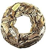 Winter Flora 50 cm Durchmesser, Rustikaler Türkranz aus Treibholz, natur