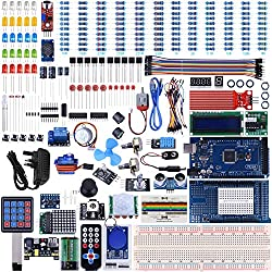 UNIROI Arduino Mega2560 Kit with Tutorials, Complete Starter Kit with 5V Relay Module, Resistance Card, DC Motor, Motion Detector and More (242 Items)