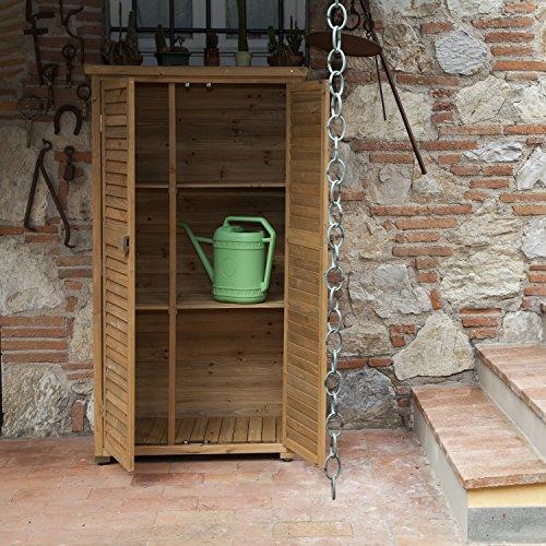 Armadio in legno da esterno 82x42x160 solido jarsya for Armadio esterno legno