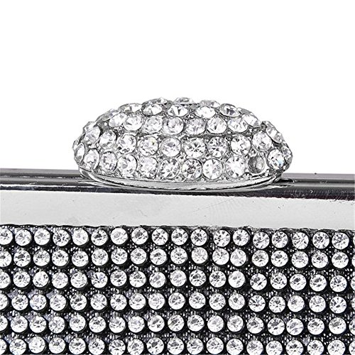 ERGEOB® Donna Clutch diamante cristallo sacchetto di sera borsetta per Party Festa matrimonio nero