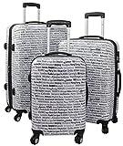 3-teiliges Polycarbonat-Kofferset - Motiv Städte der Welt - Größen M,L,XL Polycarbonat Koffer zeichnen sich durch hohe mechanische Belastbarkeit, Dehnfähigkeit und ein geringes Gewicht aus. Kofferschalen aus Polycarbonat sind bruchsicherer und leicht...