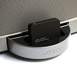 LAYEN i-DOCK Bluetooth 4.1 Audio Adaptor / Receiver + Multi-Pair (Pair Two Devices!) + aptX (Superior Sound!) Stream Music Wirelessly From Your Bluetooth Device; iPod, iPhone, iPad, Smartphone, Tablet, MP3 Player, PC, Laptop to Docking Station/Stereo (Not Suitable for Cars - See Below)