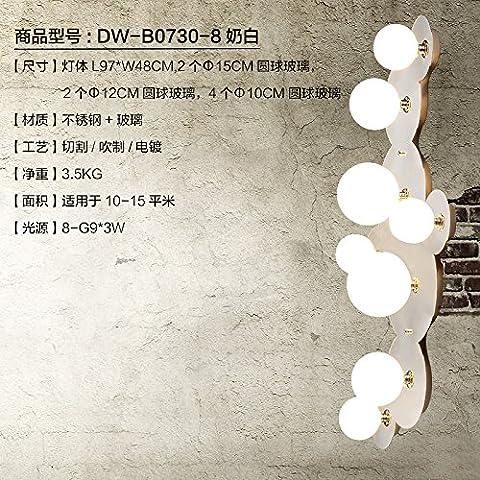 midtawer Nubes de acero inoxidable elegante y sencillo y cálido apliques creativo ,DW-B0730-8 Crema