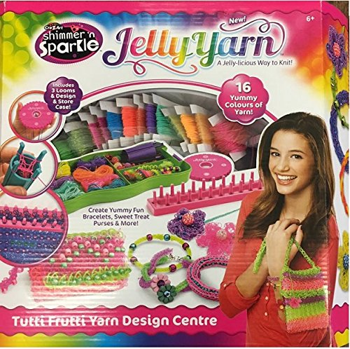 Shimmer'n Sparkle jelly yarn tutti frutti yarn design centre 16 yummy colour of yarn ... - Sparkle Jelly