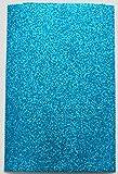 Fabrics-City EVA 2MM MOOSGUMMIPLATTE GLITTER CA.20CM X 29,5CM STOFF STOFFE 4312 (türkis)