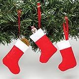 Baker Ross Mini Calze di Natale in Feltro, da Decorare, Appendere e riempire con sorpresine - Set Decorazioni Natalizie da Appendere (Confezione da 8)