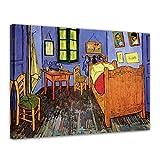 Bilderdepot24 Kunstdruck - Alte Meister - Vincent Van Gogh - Vincents Schlafzimmer in Arles - 70x50cm Einteilig - Leinwandbilder - Bilder als Leinwanddruck - Bild auf Leinwand - Wandbild