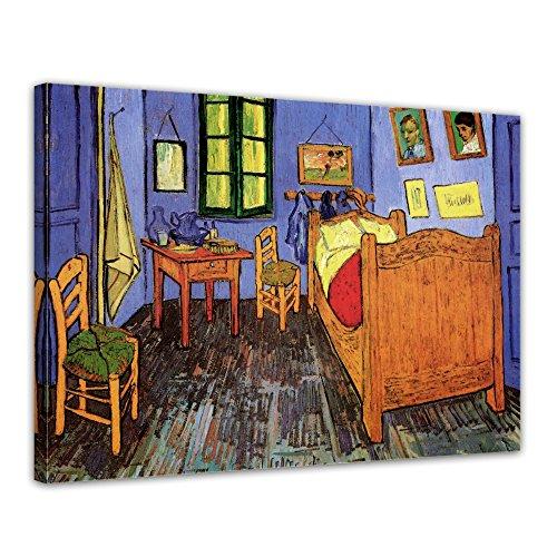 Wandbild Vincent Van Gogh Vincents Schlafzimmer in Arles - 50x40cm quer - Alte Meister Berühmte Gemälde Leinwandbild Kunstdruck Bild auf Leinwand -