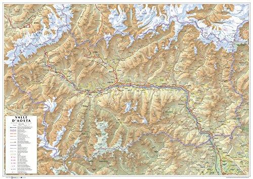 Valle d'aosta. carta stradale della regione 1:100.000 (carta murale cm 96x68)