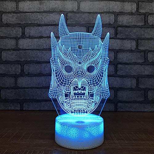 er Halloween Maske 3D Nachtlichter Kinderspielzeug Led Lichter Kreative Halloween Beleuchtung Geschenke Kinderzimmer Usb Kinder Lampe ()