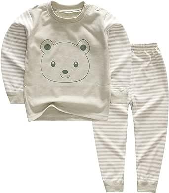 6M-5 Ans YANWANG 100/% Coton Baby Boys Girls Ensemble Pyjama Manche Longue V/êtements de Nuit