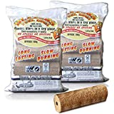X10 EXTRA LARGE BLAZERS FUEL LOGS (2KG/LOG!) - For a Long Lasting Fire. Stoves, Open Fire, Pits etc - Comes With TheChemicalHut® Anti-Bac Pen!