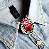 Satu CORA Spille per colletto camicia ex voto sacro cuore Frida Kahlo 2018 new collection