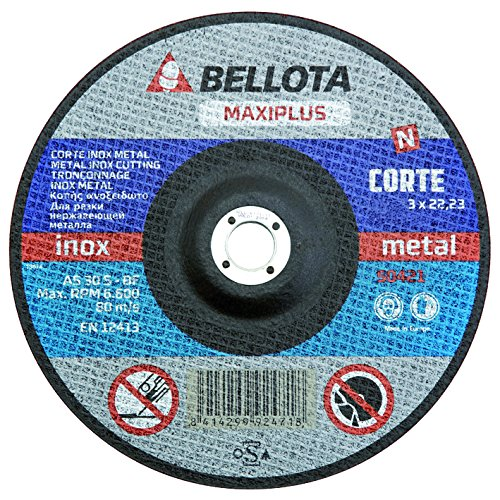 Bellota 50421-230 DISCO ABRASIVO MAXIPLUS CORTE INOX METAL 230MM