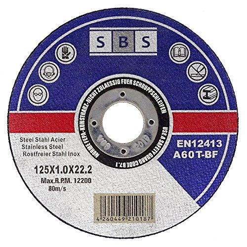100 Stück SBS Inox Trennscheiben 125 x 1,0 mm