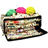 Knitting Bag, Sewing Accessories and Craft Needle Storage Organiser Case In Retro by Roo Beauty