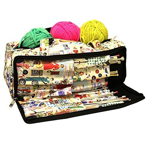 Bolsa tejer, accesorios costura caja organizador almacenamiento