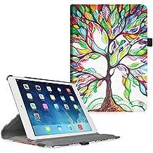 Fintie iPad Air 2 Funda - Giratoria 360 grados Smart Case Funda Carcasa con Función y Auto-Sueño / Estela para Apple iPad Air 2 (iPad 6th Generación 2014 Versión) 9.7 Inch iOS Tableta, Love Tree