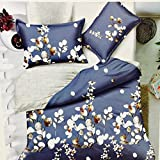 MSE All season Rich & Premium High Quality Luxury Double Bed Sheet, 100% Pure cotton Fashion Double Bedsheets (250*275 cms) king size with 2 pillow covers